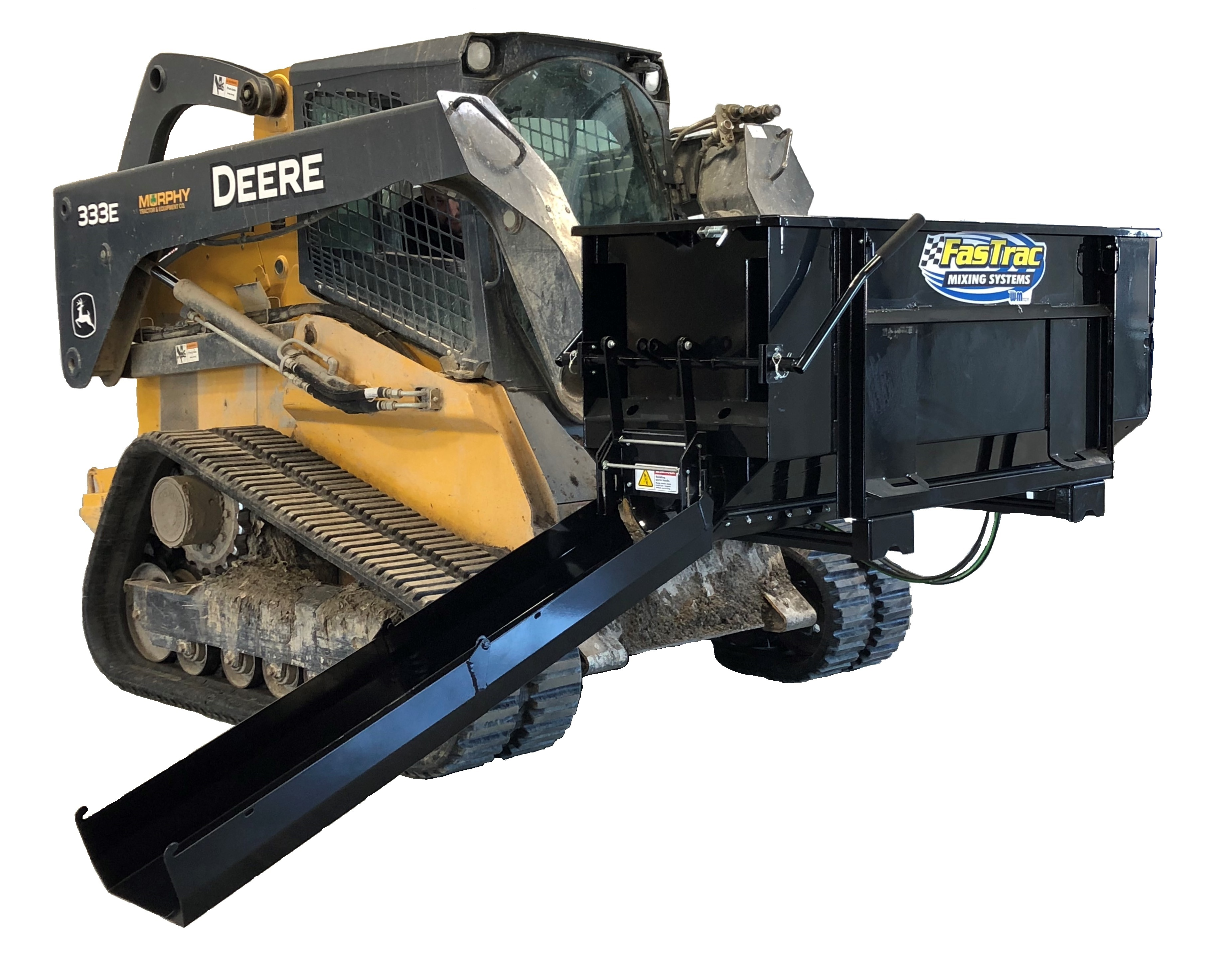 The FasTrac Concrete Mixer turns any skid steer loader into a portable concrete mixer, ideal for applications where space, speed, cost and convenience are ...
